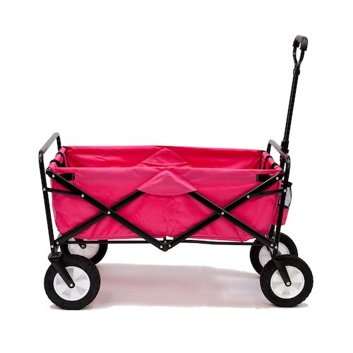 9. Pink Mac Sports Collapsible Folding Utility Wagon Garden Cart Shopping Beach
