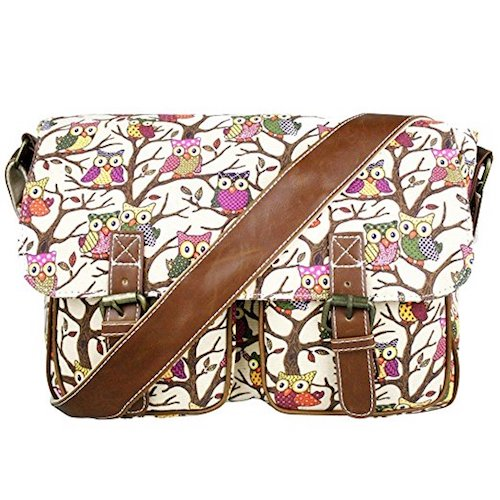 6. Miss Lulu Canvas Prints Satchel Messenger Shoulder Bag