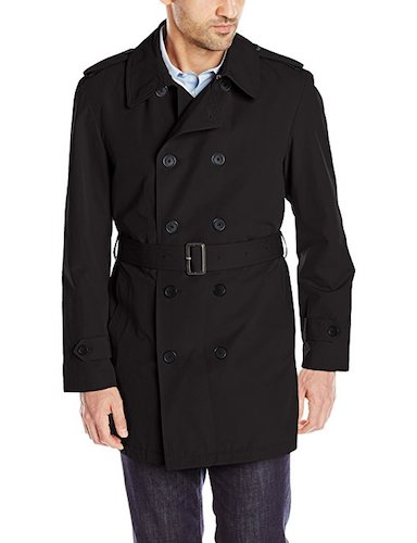Top 10 Best Men's black Trench Coats : 9. Stacy Adams Men's Big-Tall Strike Double Breasted Raincoat