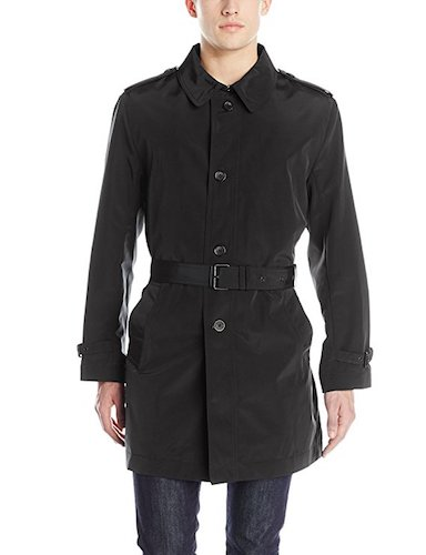 Top 10 Best Men's black Trench Coats: 8. Kenneth Cole New York Men's Rado Belted Trench coat