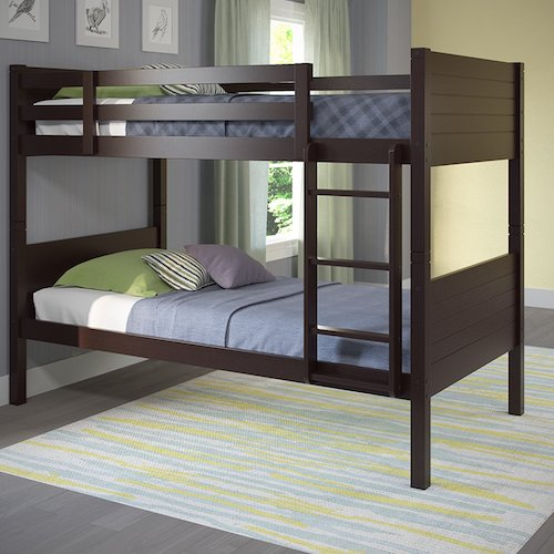 7. CorLiving BAF-390-B Ashland Bunk Bed, Twin/Single, Dark Cappuccino