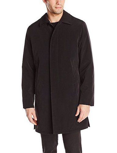 Top 10 Best Men's black Trench Coats : 6. Viero Richi rain coat