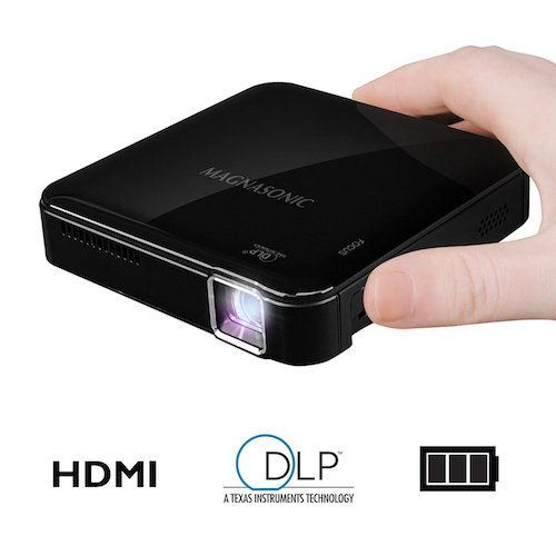 Top 10 Best Projectors Under 200 Dollar: 10. Magnasonic PP71 Mini Portable Pico Video Projector with HDMI, Rechargeable Battery, Built-In Speakers and DLP