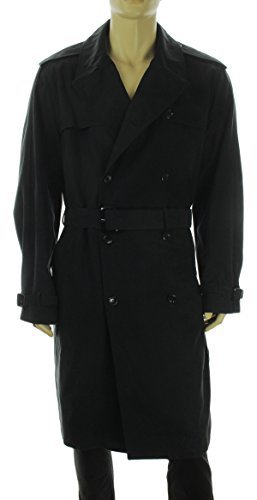 Top 10 Best Men's black Trench Coats: 2. London Fog men's Plymouth trench coat