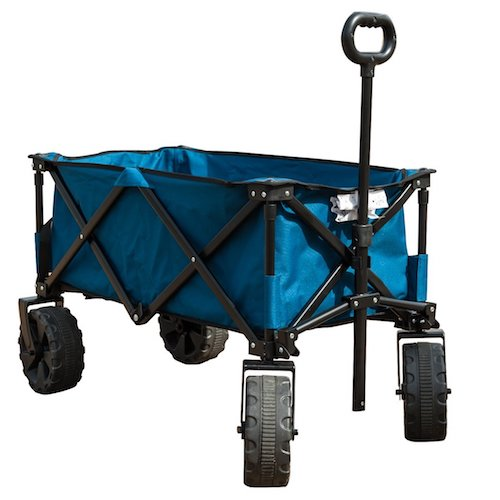 3. TimberRidge Folding Camping Wagon/Cart - Collapsible Sturdy Steel Frame Garden/Beach Wagon/Cart