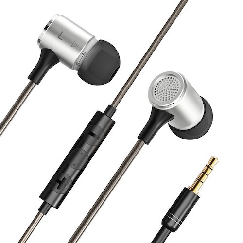 2. VAVA Flex Wired Earphones, Bass Stereo Earbuds Headphones