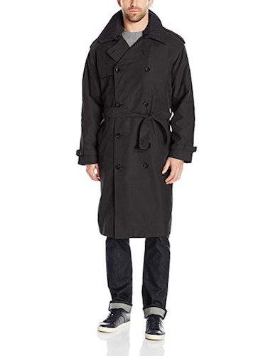 Top 10 Best Men's black Trench Coats: 4. London Fog men's double breasted trench coat