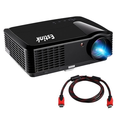 Top 10 Best Projectors Under 200 Dollar: 2. Portable Video Projector Full HD Home Cinema Projectors Native 720P High Deff Support 1080P 2500 Lumens 200