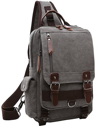 18. Mygreen Canvas Cross Body Messenger Bag Shoulder Sling Backpack Travel Rucksack