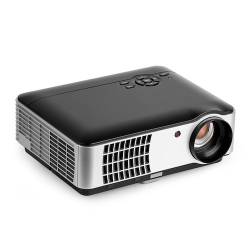 Top 10 Best Projectors Under 200 Dollar: 9. 2800 Lumens Video Projector, OCDAY 5.0 Inch LCD TFT Display 1280x768 Resolution Support 1080P by USB HDMI VGA AV Compatible with Home Cinema Theater TV Laptop Game iPad iPhone Android Smartphone
