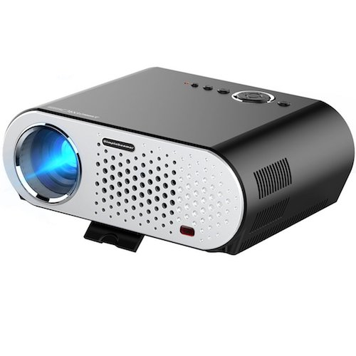 Top 10 Best Projectors Under 200 Dollar: 5. Video Projector Protable, CiBest LCD Projector HD 1080p 3200 Lumen LED Multimedia Home Cinema Theater Entertainment Movie Christmas Party Game Projector HDMI VGA USB for Laptop TV iPad Smartphone