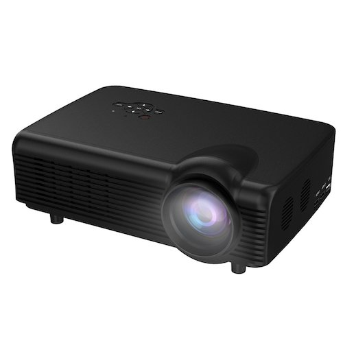 Top 10 Best Projectors Under 200 Dollar: 7. Home Projector,Abdtech 3000 Lumens Led Video Projectors HD 1080P For Home Theater With Optical Keystone USB/AV/HDMI/VGA