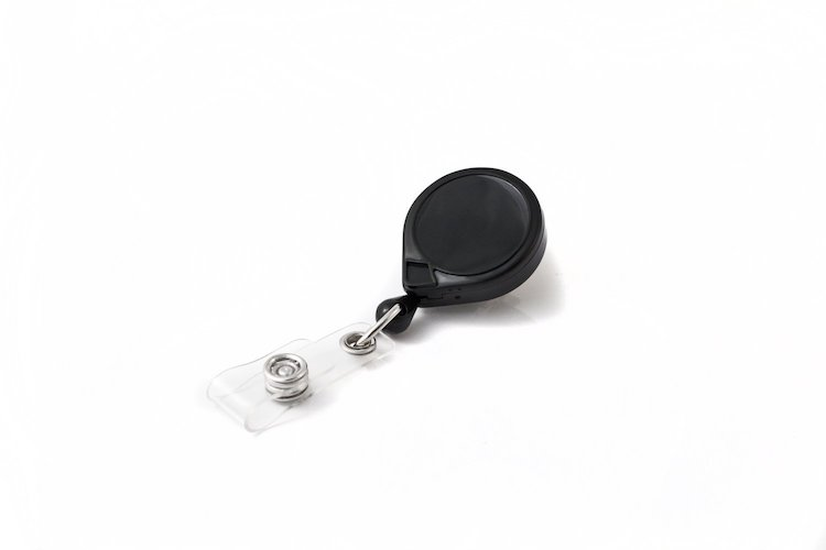 6. Key-Bak Mini-Bak Retractable Reel with 36-Inch Nylon Cord, Swivel Bulldog Clip and Vinyl ID Strap
