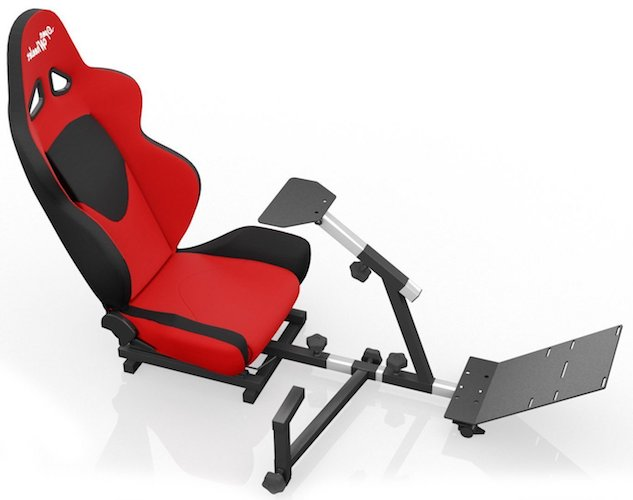 Best Comfortable Ergonomic Gaming Chairs: 10. Openwheeler Advanced Racing Simulator Seat Driving Simulator Gaming Chair with Gear Shift Mount