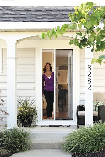 5. ODL Brisa BRSTBE Bronze Standard Retractable Screen Door