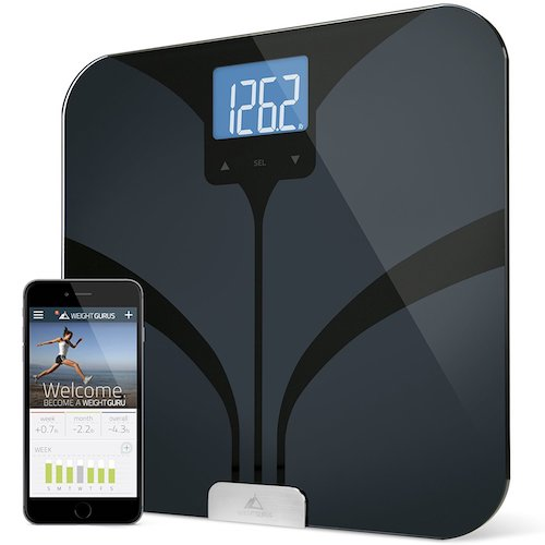 2. Weight Gurus Bluetooth Smart Connected Body Fat Scale