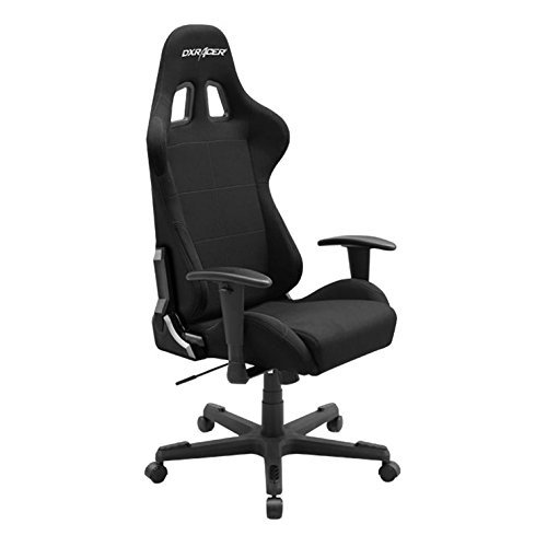 Best Comfortable Ergonomic Gaming Chairs : 7. DXRacer Formula Series DOH/FD01/N Newedge Edition Racing Bucket Seat Office Chair Gaming Chair Ergonomic Computer Chair eSports Desk Chair Executive Chair Furniture With Pillows (Black)