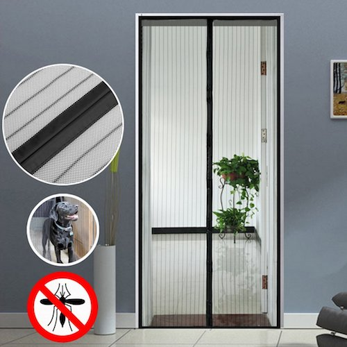 10. Homdox Magnetic Screen Door Heavy Duty Mesh Doors with Full Frame Velcro and Premium Hand-free Magnetic Mesh Prevent Mosquito, Keep the Air Fresh, Black (32