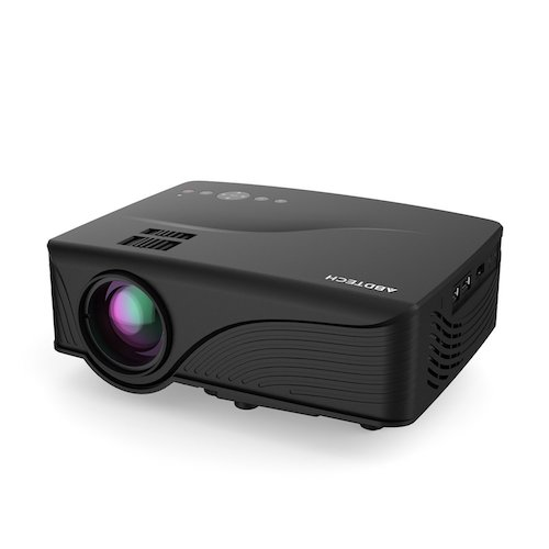 9. Abdtech 1200 Lumens Mini LED Multimedia Home Theater Projector - Max 120