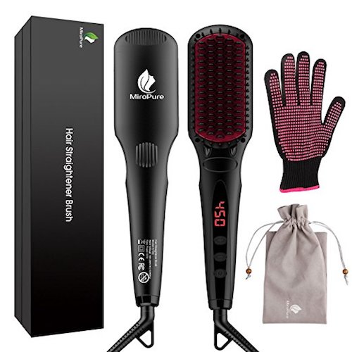 Best Electric Hair Straightening Brushes: 3. MicroPure 2 in 1 Ionic Hair Straightener Brush