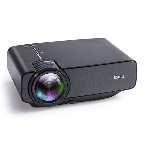 1. Mini Projectors, RAGU Z400 Video Projector 1600 Luminous Efficiency Portable Home Entertainment Theater LED Projector Support HD 1080P for PC Laptop PS4 XBOX Smartphone Android iPhone TV Box, Black