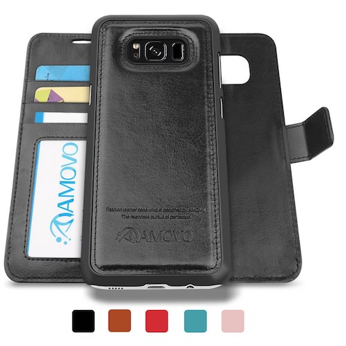 6. AMOVO Galaxy S8 Plus Case, Samsung S8 Plus Wallet Case