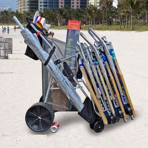 6. Super Ultimate Ultra Wide Wheel Wonder Wheeler Beach Cart
