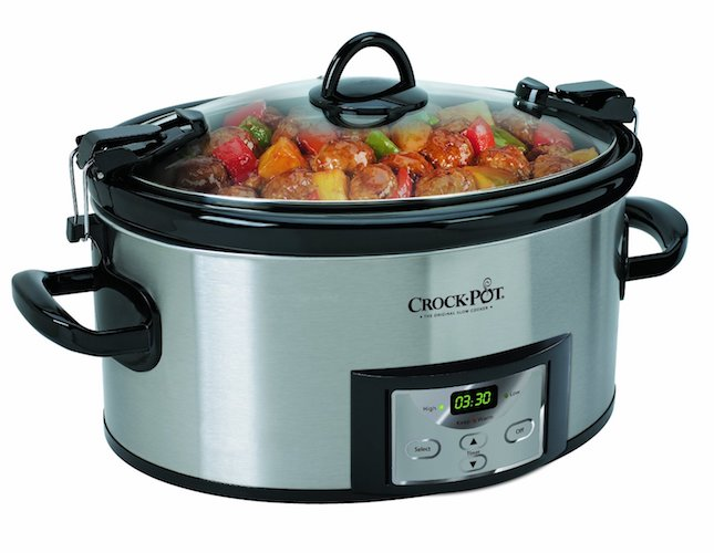 Best Slow Cookers: 3. Crock-Pot SCCPVL610-S 6-Quart Programmable Cook and Cart Oval Slow Cooker, Digital Timer, Stainless Steel