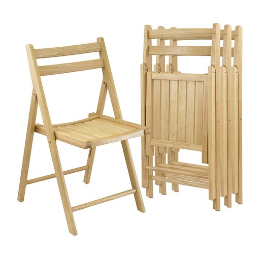 Best Folding Chairs 11. Winsome Wood Folding Chairs