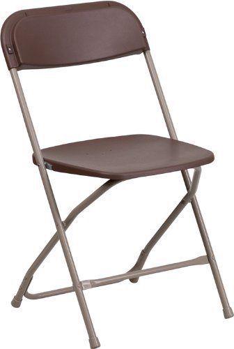 Best Folding Chairs 9. Hercules Series 800-Pound Premium Brown Plastic Folding Chair