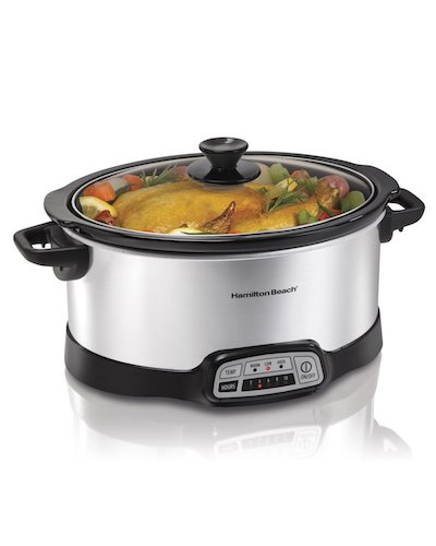 Best Slow Cookers: 2. Hamilton Beach 334743 Programmable Slow Cooker 7 – Quart, Silver