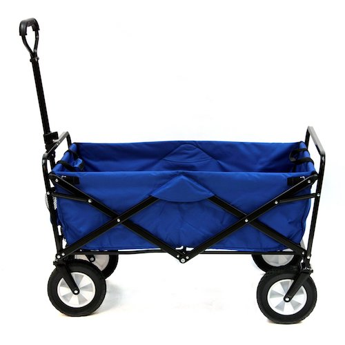 5. Mac Sports Collapsible Folding Outdoor Utility Wagon, Blue