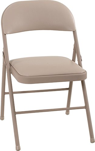 Best Folding Chairs 7. Cosco Vinyl 4-Pack Folding Chair (Antique Linen)