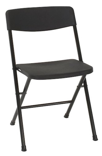 Best Folding Chairs 1. Cosco Resin 4-Pack Folding Chair with Molded Seat and Back, Black