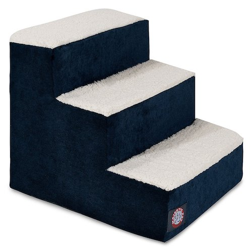 Best Folding Dog Stairs: 6. Majestic Pet Villa Micro-Velvet Slipcover Pet Steps