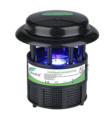 Best Mosquito Killers: 6. Hausbell Nontoxic Mosquito Trap Non-Chemical Flies Killer Mosquito Inhaler Auto On and Off With Light Sensor