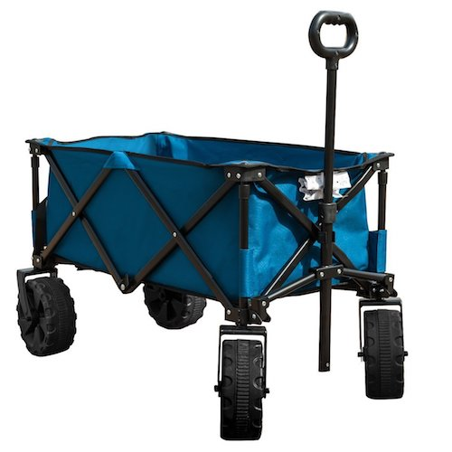 9. TimberRidge Folding Camping Wagon/Cart - Collapsible Sturdy Steel Frame Garden/Beach Wagon/Cart