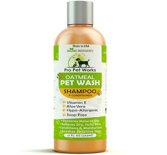 Best Dog Shampoo For Sale : 10. Pro pets works hypoallergenic organic oatmeal