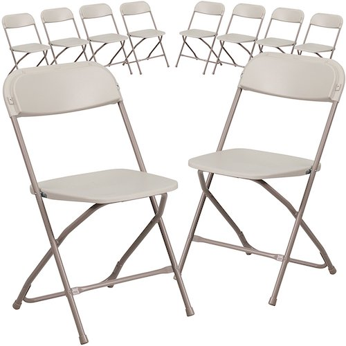 5. Hercules Series Premium Plastic Folding Chair (10 Pack)