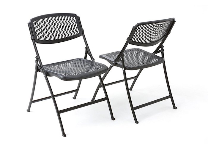 Best Folding Chairs 10. Flex One Folding Chair (Black)