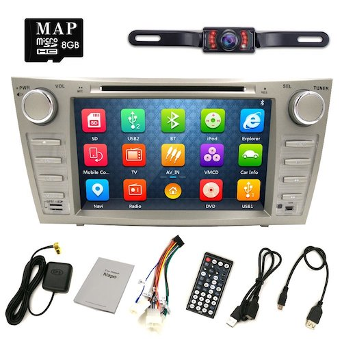 5. HIZPO Camry Aurion Car DVD Player 2006 2007 2008 2009 2010 2011 GPS Navigation with Free map card DVD/CD USB SD BT iPod GPS AM/FM/RDS Radio + Camera