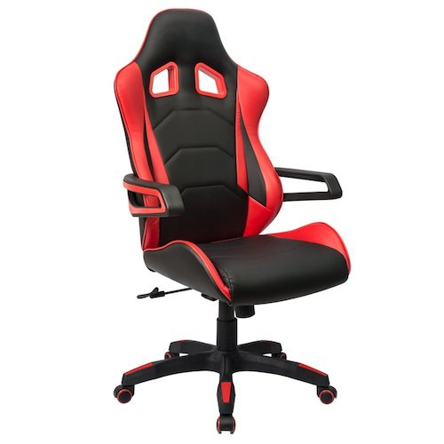 comfortable office chairs for gaming. homall computer racing chair ergonomic high-back gaming premium pu leather bucket comfortable office chairs for