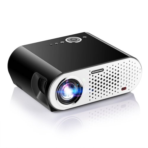Best Projectors Under 200: 9. Video Projector, Papake 1080P HD Home Theater Projector