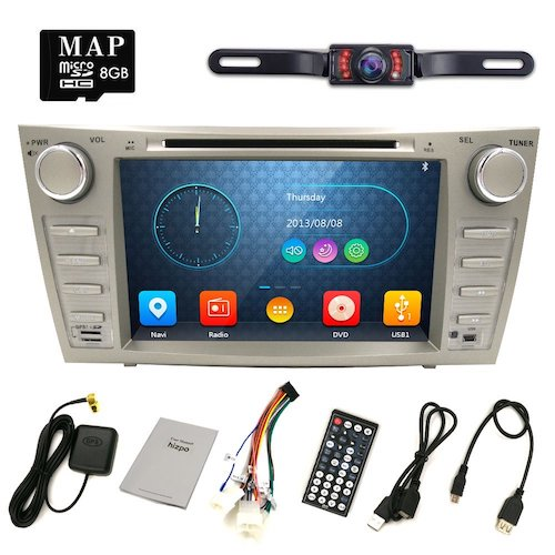 4. Hizpo Rear Camera Included For TOYOTA Camry 2007 2008 2009 2010 2011 8 inch Indash CAR DVD Player GPS Navigation Navi iPod Bluetooth HD Touchscreen Radio RDS FM+Free US GPS Map Card