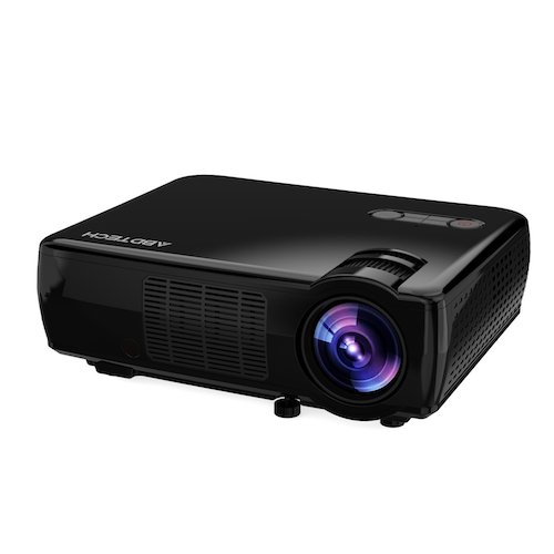 Best Projectors Under 200: 3. Abdtech LCD Portable Projector Home Theater With 2600 Luminous Efficiency Support HD 1080P Video-Max 200