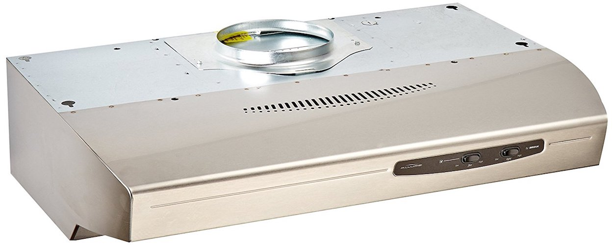 6. Broan QS130SS 220 CFM Under Cabinet Hood, 30-Inches, Stainless Steel