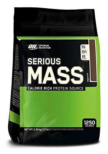 1. Optimum Nutrition Serious Mass Gainer Protein powder, chocolate, 12 pounds