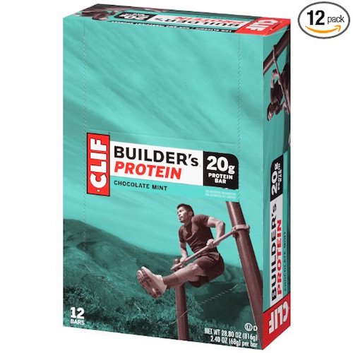 6. Clif Builder's Protein Bars - Chocolate Mint - 2.4 oz - 12 ct