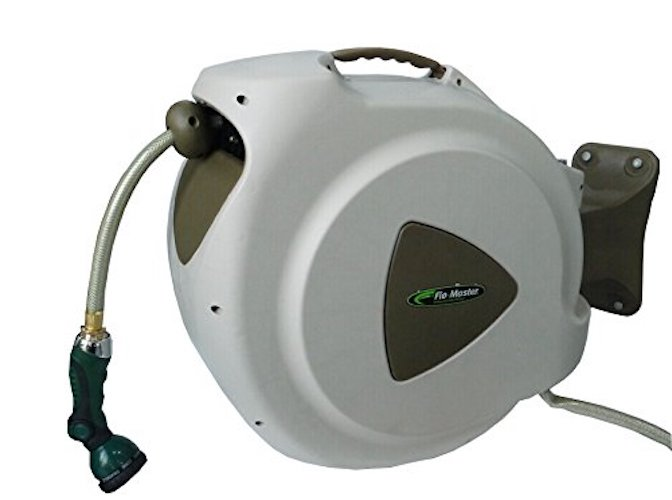 3. RL Flo-Master 65HR8 Retractable Hose Reel with 8 Spray Pattern Nozzle