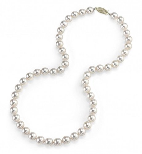 5. 14 Carat Yellow Gold Pearl Necklace